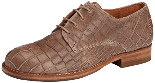 Shabbies Amsterdam Shabbies derby lace up shoe round last leather sole antislip Chelsea, Scarpe Derby con lacci donna, Marrone (Braun (Topo 324)), 37