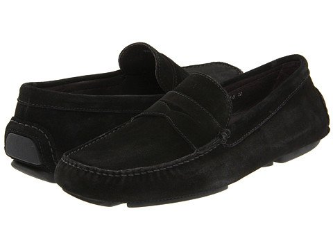 Donald J. Pliner Men's Vinco Slip-on Driver (Black, 10)