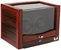 Volta 31-560022 Rustic Rosewood and Ebony Wood Watch Winder