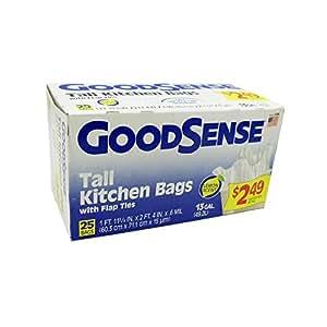 Goodsense 25ct 13 Gal Lemon Tall Kitchen Bags Case Of 12