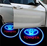CycleMore 2 Pcs Universal Car Projection LED Projector Door Shadow Light Welcome Light Laser Emblem Logo For Toyota