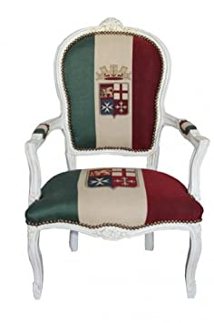 Estilo antiguo - Casa Padrino barroco Salón Silla Italia / Crema