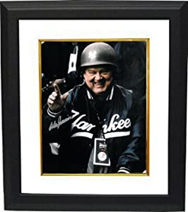 Don Zimmer signed New York Yankees 8x10 Photo Custom Frmaed in Army Helmet by Athlon Sports Collectibles
