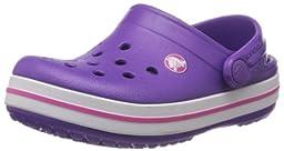 crocs Crocband Kids Clog (Toddler/Little Kid), Neon Purple/Neon Magenta, 3 M US Little Kid