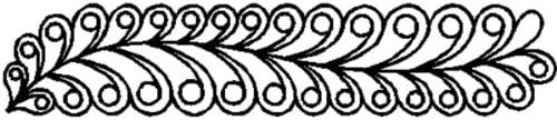 Quilt Stencils By Sue Patten-Swirl 3-12quotX17-12quot