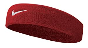 Nike Swoosh Stirnband 9381/3:601, Rot/Weiss, One Size