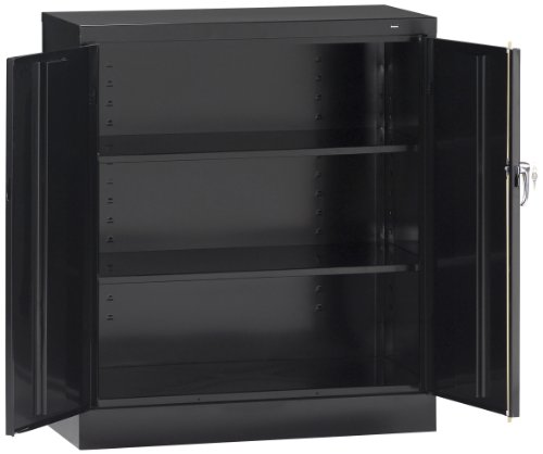 Tennsco 4218 24 Gauge Steel Standard Welded Counter High Cabinet, 2 Shelves, 150 lbs Capacity per Shelf, 36