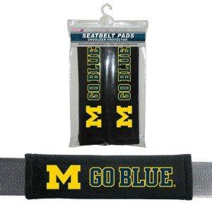 Michigan Wolverines Velour Seat Belt Pads front-163899