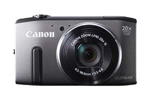 """Canon PowerShot SX270 HS Appareil photo numérique compact 12,1 Mpix Écran LCD 3"""" Zoom optique 20X Gris"""