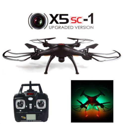 JMAZ Syma X5SC-1 Explorers Upgraded Version RC Quadcopter Drone 4CH 6-Axis 2.4G Gyro Drone 2MP HD Camera Black (Syma 1x 4 Channel Rc Quad Copter compare prices)