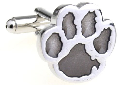 MFYS Men's Jewelry Steel Bear Paw Novelty Cufflinks