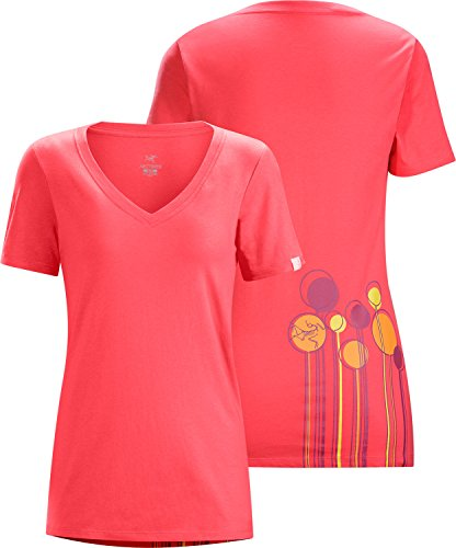 Arcteryx tall timber ss v neck t shirt women 39 s pink for Womens tall v neck t shirts