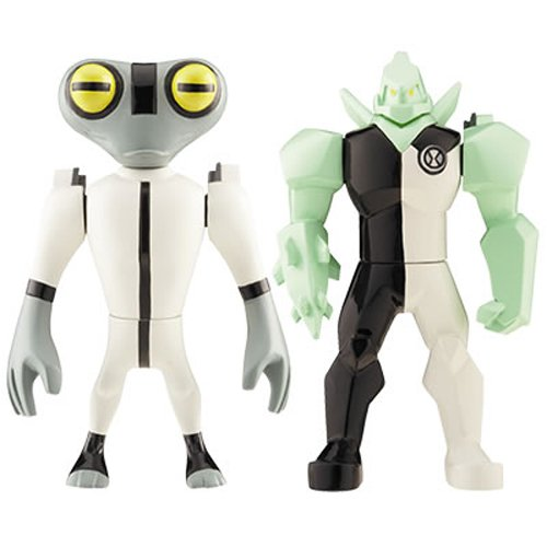 Picture of Bandai Ben 10 (Ten) Alien Creation Chamber Mini Figure 2-Pack Diamondhead and amp; Grey Matter (B001CUVWOK) (Ben 10 Action Figures)