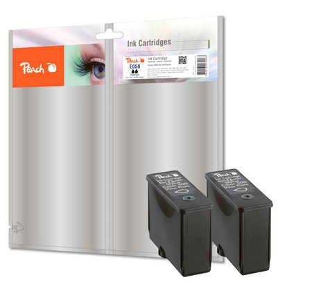 Peach E050 bk Doppelpack Tintenpatronen, kompatibel zu Epson T013, S020187, S020093, S020108, schwarz