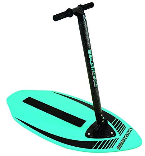 d6surf 54320-Surf Board, Tavola da surf,-Skimboard con impugnatura, 2in 1divertimento, Blu/Verde