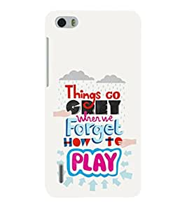 EPICCASE playing to be great Mobile Back Case Cover For Huawei Honor 6 (Designer Case)
