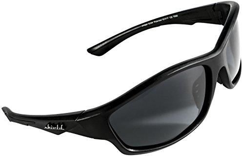 Shield Cloaks Polarized Sports Sunglasses for Running Fishing Cycling Baseball Tennis, Superlight Unbreakable TR90 Frame (Black, Smoke Black) (Iron Man Sun Visor compare prices)