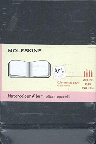 Moleskine Art Plus Watercolor Album, Pocket, Black, Hard Cover (3.5 x 5.5) [Moleskine] (Tapa Dura)
