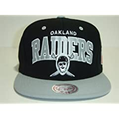 Oakland Raiders Mitchell & Ness Vintage Logo Snapback Cap Hat Black by Mitchell & Ness