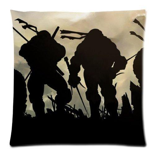 Generic Custom Teenage Mutant Ninja Turtles Printed Zippered Pillowcase Cushion Cover 18*18(Twin Sides) front-985338