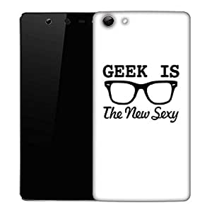 Snoogg Geek is the new sexy Designer Protective Back Case Cover For Micromax Canvas Selfie Q348