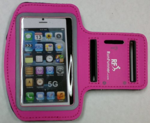 Iphone 5 Sports Armband Case - Sleek Protective Case Designed To Safely And Conveniently Carry An Iphone 5 / 5S / 5C On Your Arm - Perfect For Jogging, Walking, Gyms, Daily Activities - Lifetime Guarantee - (Hot Pink)
