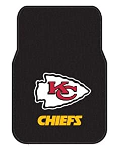 NFL Kansas City Chiefs Two-Pack Front Car Floor Mat by Northwest