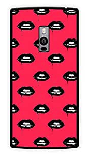 """Humor Gang Dark Gothic Lips Printed Designer Mobile Back Cover For """"OnePlus Two"""" (2D, Glossy, Premium Quality Snap On Case)"""