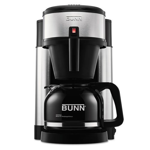 Bunn - 10-Cup Home Coffee Brewer, Stainless Steel, Black Nhs (Dmi Ea