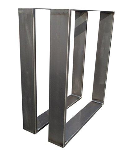 Design-Tischgestell-Rohstahl-Industrielook-TUG-206-Tischuntergestell-800x700mm-Tischkufe-1-Stck-Kufengestell-in-versch-Gren-Neu-und-OVP-800x700