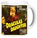 Rikki KnightTM Vintage Movie Posters Art Dracula's Daughter Design 11 oz Photo Quality Ceramic Coffee Mug Cup - FDA Approved - Dishwasher and Microwave Safe