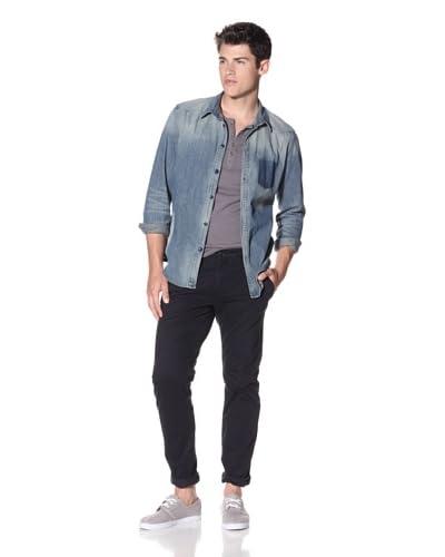 Edun Men's Garment Dyed Flap Pocket Pants  [Midnight]