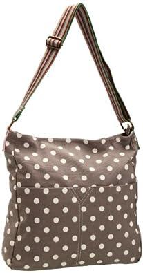 SwankySwans Girl's Kirsty Polka Print Crossbody Bag Grey SS01074