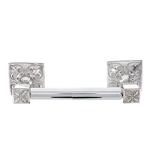 Vicenza designs tp9013 fleur de lis spring toilet paper holder polished silver ebay - Fleur de lis toilet paper holder ...