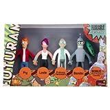 Boxed set of Futurama Bendable Figures : Fry, Leela, Farnsworth, and Bender with Bonus Keychain