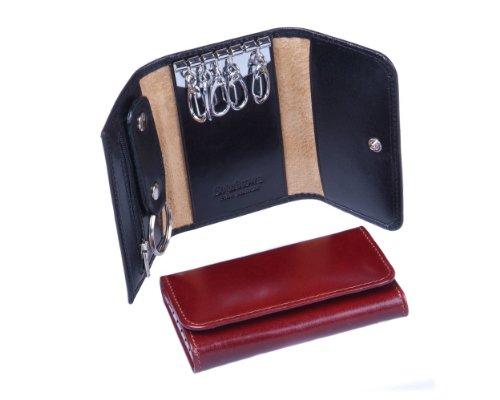 Sage Brown Genuine Leather Key Ring Wallet