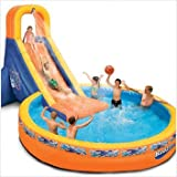 Spring & Summer Toys Banzai The Plunge Water Slide (with 12ft Diameter Pool and Blower Motor)