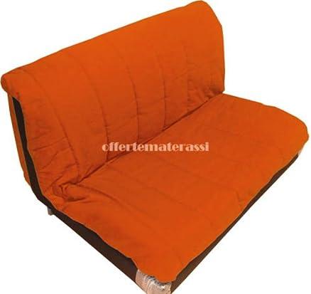 Prontoletto PISOLO MATRIMONIALE arancio con rete elettrosaldata e materasso