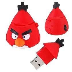 GeekGoodies Fancy Waterproof Rubber Angry Bird Red Second Design USB Pen Drive 8GB
