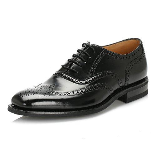 loake-hombres-negro-262b-legend-polished-cuero-brogue-zapatos-uk-9