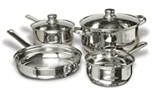 Cuisine Select Landon 7-Piece Stainless Steel Cookware Set