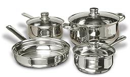 Gibson Home Landon 7-Piece Stainless Steel Cookware Set