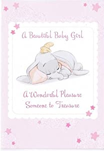 Dumbo - New Baby Card - Girl