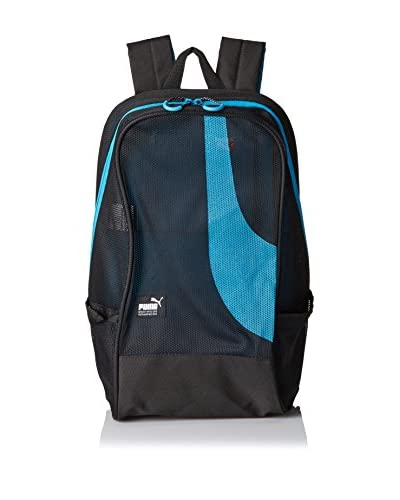 PUMA Men's Mesh Backpack, Black/Blue