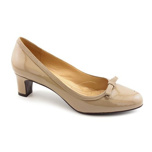 Easy Spirit Ranielle Womens Size 9 Nude Patent Leather Pumps Heels Shoes Uk 7.5