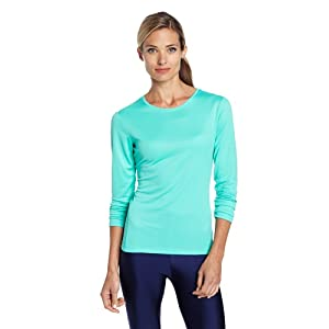 ASICS Women's Core Long Sleeve Top, Mint, Medium