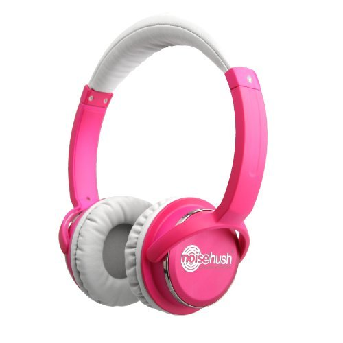 Noisehush Nx26-11951 3.5Mm Stereo Headphones With In-Line Mic For All Apple Ipad/Iphone/Ipod/Mps Players/Laptops, Dark Pink