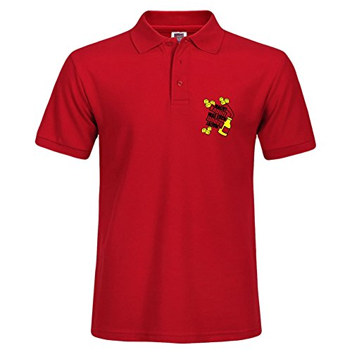 Tamavaug Autumn Casual Men Clothing Red Short Sleeve Polo Shirt Size X-large Destroys What Is Destroying You Cobblestone Pattern