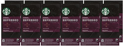 Starbucks Fairtrade Compatible Espresso Roast Capsules (Pack of 12, Total 120)