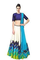 Pushty Fashion Multicolour Printed Bangalore Silk Designer Lehenga